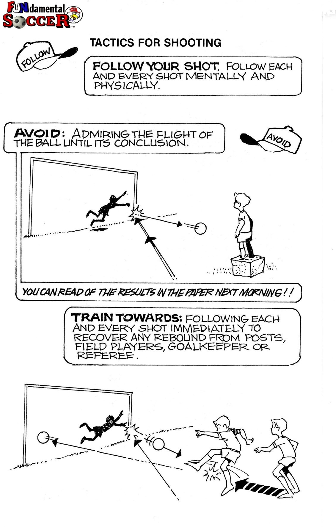 Why Coaching U-6 & U-8 Soccer to always 'Follow your Shot' is Critical